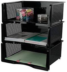 Amazon.com : Neadas Plastic File Tray Supports Desktop Organiser A4 Document Office Desk Trays, Black, 3 Packs : Office Products Letter Organizer, File Organiser, Best Fitness Tracker Watch, Office Desk Supplies, Double Space, Letter Tray, Desk Tray, Desktop Organization, Packing