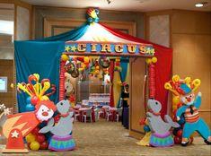 21 Ways to Simplify Kids' Birthday Parties Vintage Circus Birthday Party— entrance Vintage Circus Party, Circus Carnival Party, Circus Theme Party, Carnival Birthday Parties, Circus Birthday, First Birthday Parties, Birthday Party Themes, Birthday Kids, Vintage Carnival