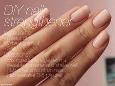#DIY #nail strengthening treatment