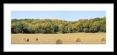 #iowa #photography #fineart #art #gifts Autumn Bales Framed Print By Bonfire Photography