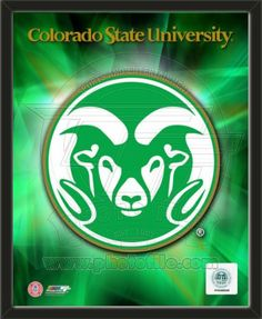 One framed 8 x 10 inch Colorado State University photo of Colorado State University Rams Team Logo.  The photo is textured and comes glassless in a wood frame.  $19.99 @ ArtandMore.com