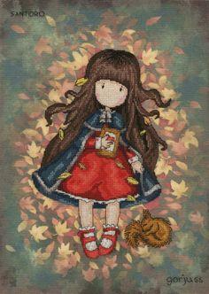 Autumn Leaves - Gorjuss Cross Stitch