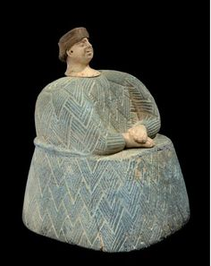 Bactrian chlorite and white calcite figure, Late 3rd - early 2nd millennium B.C. 17 cm high. Private collection, from PBA auction 5 December 2010