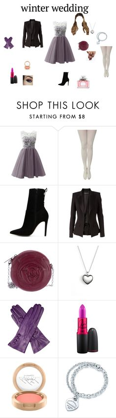 """""""Winter Wedding"""" by balletfashionista1 ❤ liked on Polyvore featuring ALDO, Alexandre Vauthier, Valentino, Pandora, Dents, MAC Cosmetics, Tiffany & Co. and Christian Dior"""