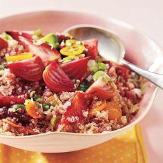 Beet, Blood Orange, Kumquat, and Quinoa Salad Recipe.and 14 other amazing healthy Cooking Light quinoa recipes Quinoa Salad Recipes, Vegetarian Recipes, Healthy Recipes, Tabbouleh Recipe, Quinoa Tabbouleh, Bulgur Salad, Veg Recipes, Delicious Recipes, Yummy Food