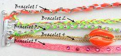 DIY: Manchette bracelets Hipanema