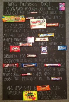 fathers day diy with candy on card | Father's Day Candy Card- switch out nerds with goober! perfect for my dad