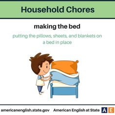 Household Chores: Making the bed
