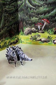 Ingeborg Igel My Design, Illustration, Hedgehogs, Illustrations
