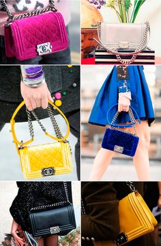 Chanel boy bag - street style details