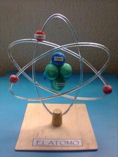 Chemistry Classroom, Science Chemistry, Easy Science, Science Fair, Science For Kids, Science Projects, School Projects, Atom Model Project, Science Bedroom