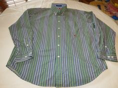 Tommy Hilfiger Mens long sleeve button up shirt L striped XL xlarge EUC @ #TommyHilfiger #ButtonFront