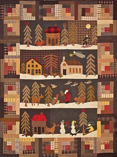 Primitive Folk Art Quilt Pattern  Silent Night by FiddlestixDesign, $17.95
