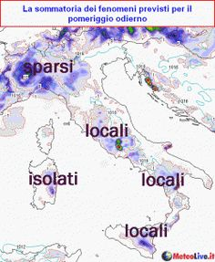 Tra le righe...: Meteo: oggi instabile su nord-ovest e regioni tirreniche, poi caldo in affermazione ma...