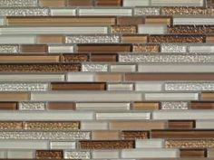 Horizontal Glass Tile Backsplash finished this week. products: square tiles: western pacific tile