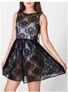[american apparel lace dress]  R$176 or US$88 with taxes and shipping [acquired]
