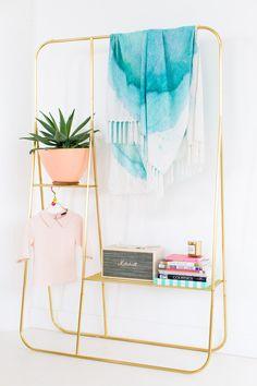 A Fall Picnic: DIY Watercolor Throw Blanket