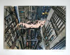 The Fifth Element: 40 Original Concept Art Gallery - Daily Art, Movie Art Classic Sci Fi Movies, Conceptual Sketches, Vertical City, Concept Art Gallery, Futuristic City, Fifth Element, Landscape Drawings, Landscapes, Environment Concept Art