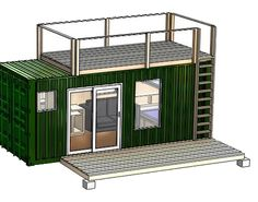 The Rustic Retreat is made out of one 20 foot container and is perfect for a hunting/camping retreat.