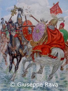 Battle of Scultenna in 643 AD.The Byzantine Army of the Exarch of Ravenna,imperial governer in Italy, was heavily defeat by the Lombards Medieval World, Medieval Knight, Byzantine Army, Vikings, Rome Antique, Art Of Fighting, Germanic Tribes, Carolingian, Early Middle Ages