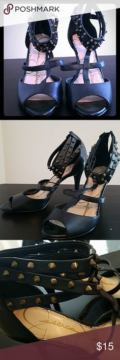 JESSICA SIMPSON size 9 t-strap dress shoe JESSICA SIMPSON size 9 t-strap dress shoe. Good Condition Worn Twice. Jessica Simpson Shoes Heels