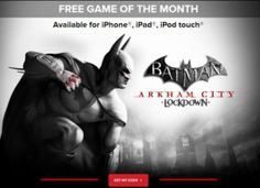 Here's a great freebie for the guys (and some gals, I'm sure)! Now through the end of the month, you can download the Batman Arkham City Lockdown game for FREE over at IGN! This regualrly costs $5.99 and works on the iPhone, iPad and iPad Touch. All you...