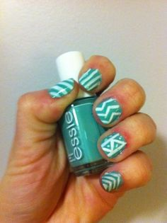 DID it - march 1, 2012. base color is essie's turquoise & caicos.