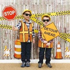 Caution: fun zone! Construct the ultimate birthday celebration for your little foreman and his workers with the Construction Pals Photo Booth Kit. Get ready to dig into the fun! #BdayPhotoBooth #Construction #Birthday #Party