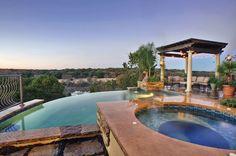 Custom Pools Swimming Pool Photos, Swimming Pools, Georgetown Texas, Infinity Edge Pool, Outdoor Spaces, Outdoor Decor, Pool Builders, Custom Pools, Pools