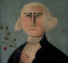 Folk art painting of George