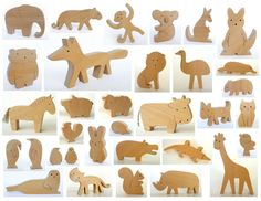 Wooden Toys – Wooden toy - Choose your own set of ANY 4 animals – a unique product by mielasiela on DaWanda