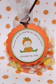 might sound CORNY, but we are so happy you could make it! Candy corn - Pumpkin Baby Shower Favor Tags via Etsy October Baby Showers, Pop Baby Showers, Baby Shower Fall, Fall Baby, Baby Shower Favors, Baby Shower Parties, Baby Shower Themes, Baby Boy Shower, Baby Shower Invitations