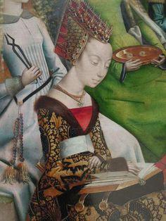 Sint Ursula, detail, Meester van de Lucialegende