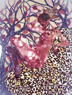 wetreesinart: Wangechi Mutu (Kenyan, born Preying Mantra, mixed media on Mylar, 186 x cm Mantra, Tate Modern Gallery, Ap Art History 250, Love Collage, African Artists, High School Art, Feminist Art, Afro Art, Art Base
