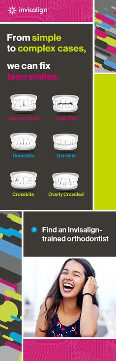 Whatever teeth-straightening issue is keeping your teen from their best smile, we've got it covered. Find an Invisalign® trained doctor today and see results in as little as 6 months!* *Treatment times vary. Natural Cures, Natural Health, Invisalign, Health Tips, Health And Wellness, Teeth Straightening, Gap Teeth, Teeth Care, Health Matters