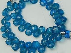 Semi Precious Gemstone Briolette. SALE Neon Blue by LuxBeads