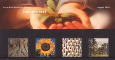 British Stamps 2000 - Millennium Projects (8th Series). 'Tree and Leaf' - (2000)