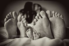 family feet. so cute.