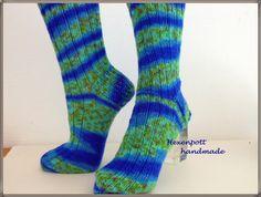 Socken - Socken handgestrickt POITJE Gr.42-43 - ein Designerstück von Hexenpott bei DaWanda