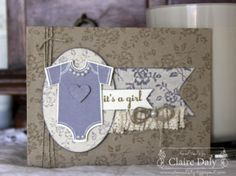 Stampin' Up! I Love Lace Background and Something for Baby stamp