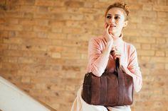 Soft supply luxury chocolate tan speedy bag. Perfect bag for the weekend! www.bettyandbetts.com/shop