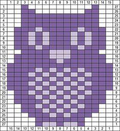 Ravelry: Owl Knitting Chart pattern by Agnes Barton