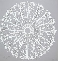 Katy Bevan decorative laser cut.  Would be great to create a snowflake Christmas decoration!