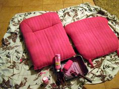 Thrift and Thriftability: Rock and Roll. Painting upholstery WITHOUT fabric medium