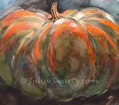 Pumpkin IIWatercolor Painting