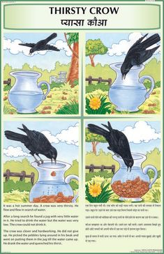 Get Thirsty Crow Story Chart at Wholesale price from largest Exporter, Manufacturer, Distributor and Supplier based in Delhi. Our Thirsty Crow Story Chart available in various size and range. English Moral Stories, Short Moral Stories, English Stories For Kids, Moral Stories For Kids, Short Stories For Kids, English Story, Dog Stories, Kids Story Books, English Lessons