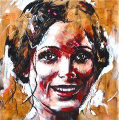 Portrait T125 Acrylique & fusain sur toile http://www.lucile.callegari.fr