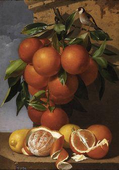Antonio Mensaque y Alvarado - Still life of Oranges via Irina.  Indigo Dreams