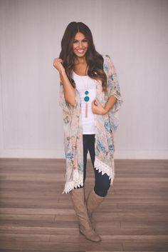 Dottie Couture Boutique - Pastel Floral Kimono, $48.00 (http://www.dottiecouture.com/pastel-floral-kimono/)