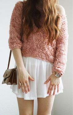 How to Chic: 3D ROSE CHIFFON BLOUSE